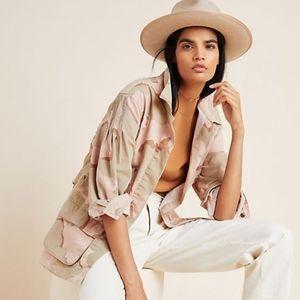 Anthropologie Lida tan utility jacket size S NWT